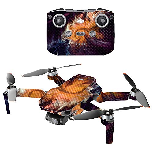 MightySkins Carbon Fiber Compatible with DJI Mini 2 Portable Drone - Swirl Galaxy | Protective, Durable Textured Carbon Fiber Finish | Easy to Apply and Change Styles | Made in The USA