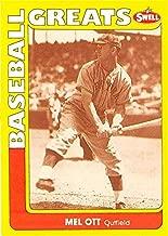 Mel Ott trading card 1991 Swell Baseball Greats #144 (New York Giants Master Melvin HOF)