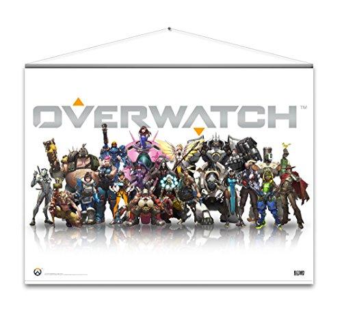 Gaya Overwatch Wallscroll Heroes, Divers