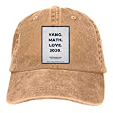 Math Andrew Yang 2020 Unisex Classic Comfortable Hat Adjustable Running Cap