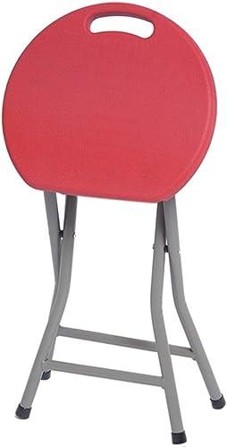 BAIF Changer Son Tabouret de Chaussures Chaise Pliante Accueil Tabouret Mode créatif Tabouret Pliant portable Chaise de Loisirs en Plein air épaisse Table de Table en Plastique (Couleur  Rouge, T