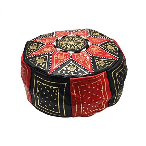 Puf, Pouf de Cuero Modelo marroquí Hecho a Mano. Mide 45 cm de diámetro y 23 cm de Alto Aproximadamente. Se Vende vacío. Se rellena con Papel de periódicos, Trapos o Goma Espuma. …
