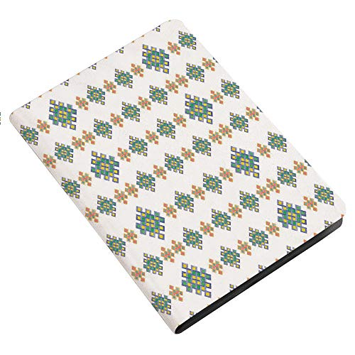 Celtic Decor iPad 2 3 4 Case (Old Model),Pastel Colored Unique Geometric Hexagon Celtic Motifs on White Background Irish Artful Print Ultra Slim Lightweight Stand Case with Frosted Back Smart Cover fo