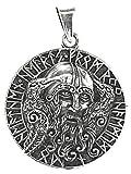 Kiss of Leather Colgante Odin con cuervos de plata 925 Nº 348