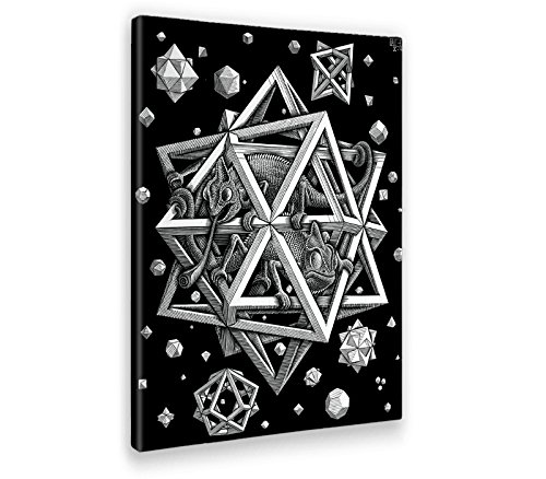 Giallobus - Cuadro - Impresion EN Lienzo - Escher - Estrellas - 50 x 70 CM