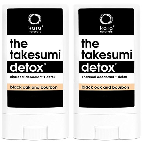 Kaia Natural Black Oak and Bourbon Bamboo Charcoal Deodorant (Pack of 2), 0.42 oz. each