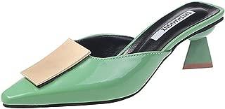 Women's Fashion Comfortable Slip on Loafers Low Kitten Heels Almond Toe Casual Daily Mule
