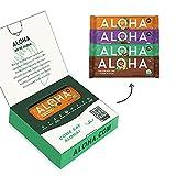ALOHA Organic Plant Based Protein Bars Trial Pack - 4 Flavors - 1.98oz Bars - Vegan Snacks, Low Sugar, Gluten-Free, Low Carb, Paleo, Non-GMO, Stevia-Free, No Erythritol