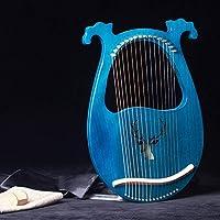 16弦ポータブルライアキン、ハープ、マホガニーリラ弦楽器、チューナーとバッグ付き、音楽愛好家や娯楽楽器に適しています,D