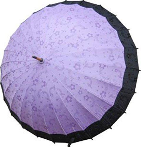 Parapluie Arabesque Japonaise Importe Directement du Japon (umbrellas) (Violet)