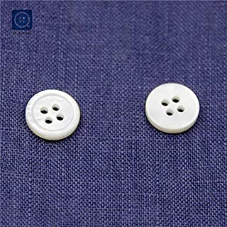 LOT OF 25 PEARL WHITE COLOR 2 HOLE 7//8 INCH BUTTONS NEW