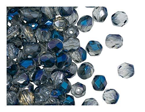 50 piezas Checa perlas vidrio facetas pulidas fuego