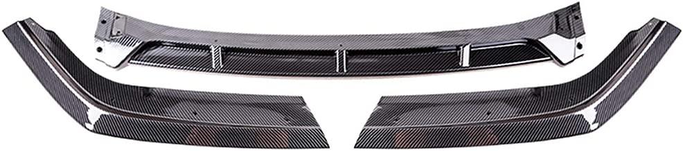Oneuda Carbon Fiber Style Car Front Bumper Lip Splitter Diffuser Lip Body Kit Spoiler For Honda for Civic 2/4 Door 2019~2020