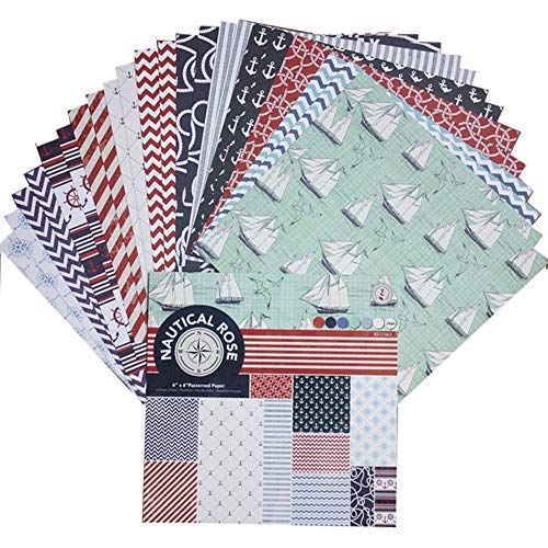 6 Inch Scrapbook Craft Paper Scrapbooking Packs Patroonpapier 24 Vellen, DP100-18