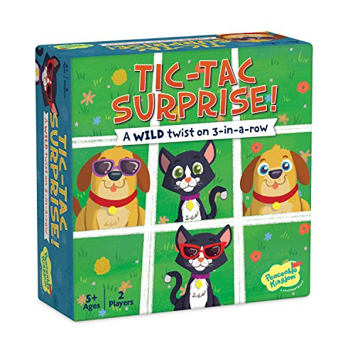 Peaceable Kingdom Tic Tac Surprise Board Game for Kids