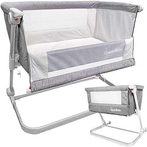Baby Bassinet - UpwardBaby Portable Bedside Co Sleeper for Newborns and Infants Travel Crib Bed - 2 Bassinet Sheets Included