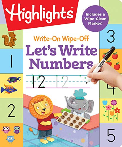 Write-On Wipe-Off Let's Write Numbers (Highlights Write-On Wipe-Off Fun to Learn Activity Books)