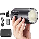Godox AD100Pro 100W Flash 2.4G HSS 1 / 8000s Pocket Round Monolight con batteria 2600mAh compatibile per Canon Sony Nikon Fuji Pentax Panasonic e Olympus