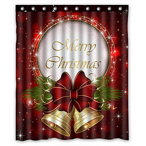 Merry Christmas Custom Fashion Shower Curtain 60-Inch by 72-Inch