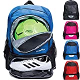 Athletico Youth Football Bag - Football Backpack & Bags for Basketball, Volleyball & Football | For Kids,...