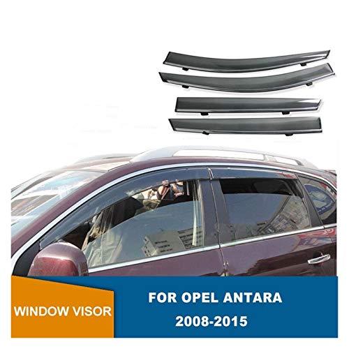 JIUTAI Fensterabweiser Für Opel Antara 2008-2015 Seitenfenster-Deflektoren Lichtübertragungsfenster-Fenster-Visiere WeatherShields Wind Rain Guards Windabweiser Seitenfenster