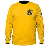 One Nation Under God Military Long Sleeve T-Shirt Large Gold