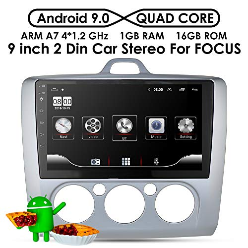 Doppelte Lärm 9 Zoll HD Touchscreen Auto Stereo Multimedia-Player GPS Sat NAVI mit Bluetooth USB FM Radio Audio Headunit für Ford Focus Exi MT 2004-2011