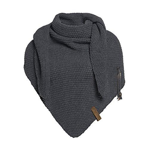 Knit Factory Damen Dreieckschal Coco anthrazit 190x85 cm