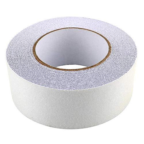 Gebildet Cinta Antideslizante Seguridad, Cinta Adhesiva Respaldados, Alta Tracción Fuerte Apretón Abrasivo, Usar Interiores y Exteriores (10M × 5cm, Transparente)
