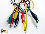 POPESQ - Cable con Doble Pinza cocodrilo 5 Colores/Colors 40 cm Alligator Clips Cable #A319