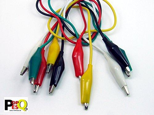POPESQ® - Cable Doble Pinza cocodrilo 5 Colores/Colors