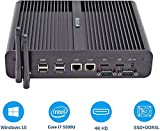 HYSTOU Intel Core i7-5500U, Ordinateur de Bureau, Mini PC, Mini PC sans Ventilateur,...