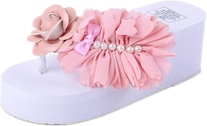Sakisa Women's Summer flip Flops Heighten Slip wear-Resistant Casual Sandals