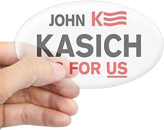 CafePress John Kasich for President 2016 Sticker Oval Bumper Sticker, Euro Oval Car Decal