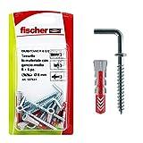 Fischer Tasselli DUOPOWER 6 C/2 K in Blister, 6 Tasselli Bi Materiale, 6 Ganci Medi, 6x30 mm,537631