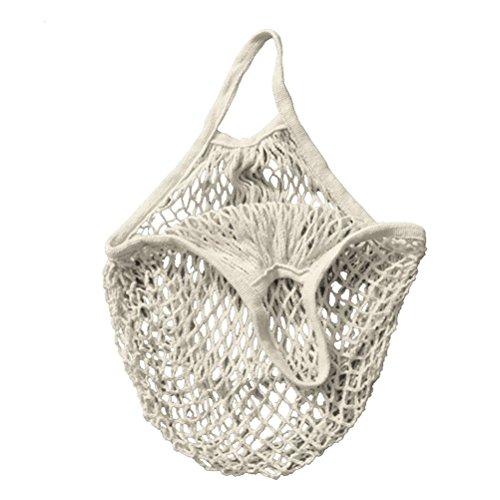PIXNOR Einkaufsnetz,Cotton String Einkaufstasche Netzbeutel (weiß)