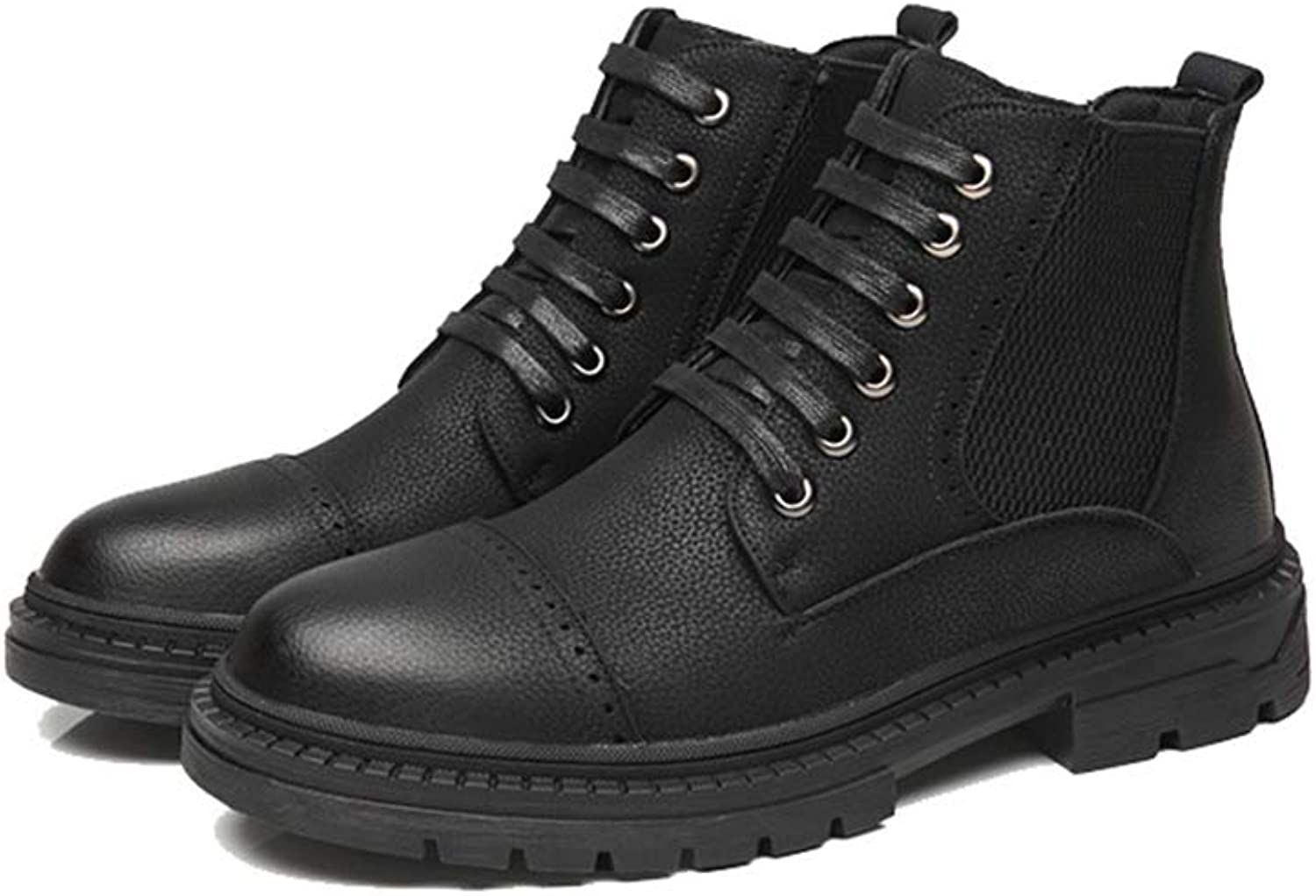 Men's Ankle Boots Casual Comfortable High Top Flat Heel Classic Leisure Boots