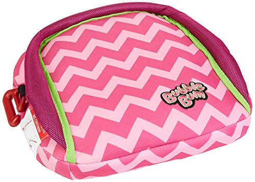 BubbleBum Inflatable Backless Travel Booster Car Seat, Pink Chevron