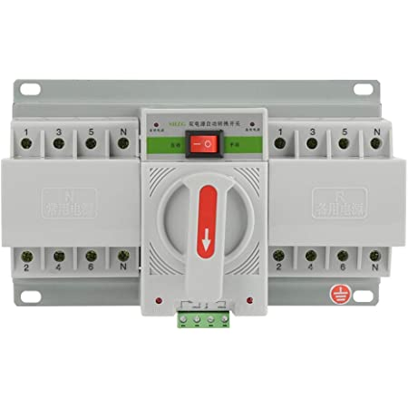 1pc 220V 63A 4P Mini Dual Power Automatic Transfer Switch Circuit Breaker