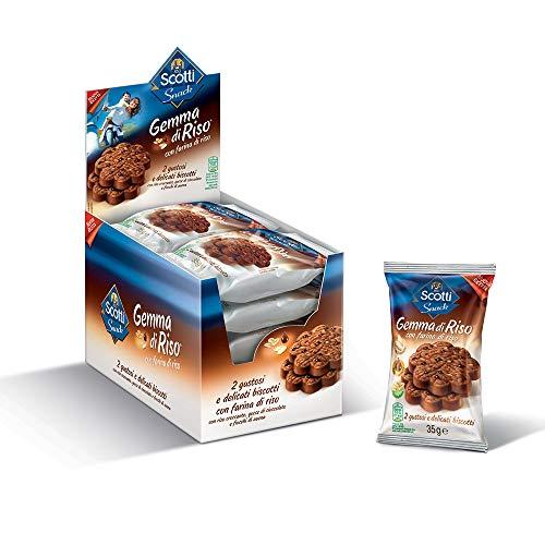 Riso Scotti Snack - Biscotti Gemma di Riso al Cioccolato - 15 Pezzi