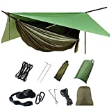 Hammock with Mosquito Net and Rain Fly Outdoor 1/2 Person Camping Hammocks Tents for Backpacking Hiking,Survival,Travel & More