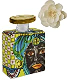 Maroc & Roll - Sicily Bottiglia Grande DIFFUSORE Profumo Ambiente in Porcellana con Fiore di Corteccia di GELSO 375ml - SBTMAXI.B&R02