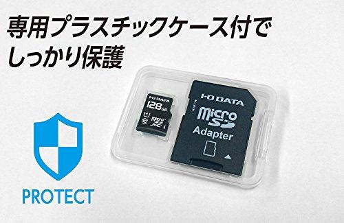 I-ODATAmicroSDカード128GBUHS-I(スピードクラス1)/Class10対応NintendoSwitch動作確認済耐X線変換アダプター付EX-MSDU1/128G