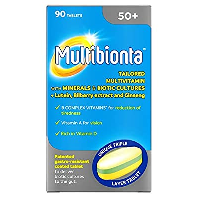 Seven Seas Multibionta 50+, Multivitamin with Minerals and Biotic Cultures, 90 tablets