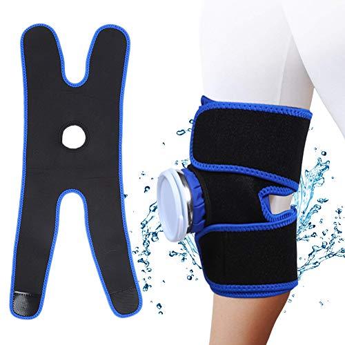 Haokaini knie-ijspakket wikkel warme en koude therapie met verstelbare compressie ondersteuning herbruikbaar voor pijn in de gewrichten, verwondingen, bursitis pijnbestrijding, meniscus traan, spuiten zwelling