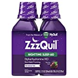 ZzzQuil helps you fall alseep in as little as 20 minutes. #1 Sleep-Aid Brand Sleep Soundly. Wake Refreshed. Ensure Time to Get a Sufficient Night's Sleep (7-8 hours) Diphenhydramine HCI 50mg (in each 30 mL)