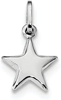 925 Sterling Silver Star Pendant Charm Necklace Celestial Fine Jewelry Gifts For Women For Her