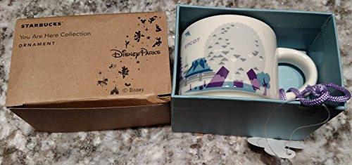 Disney Parks Starbucks You Are Here EPCOT Mug Christmas Tree Ornament
