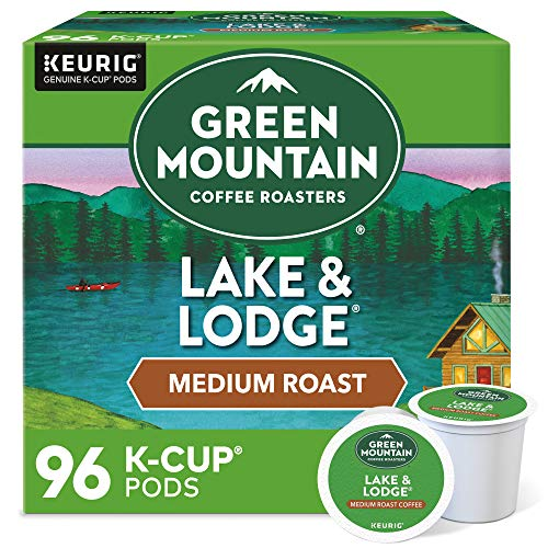 Green Mountain Coffee Roasters Lake & Lodge, Single-Serve Keurig K-Cup Pods, Medium Roast Coffee Pods, 96 Count