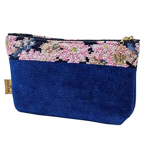 [ フェイラー ] Feiler ポーチ M8 コスメポーチ レディース コスモス ブルー Make Up Bag COSMOS BLUE blue 40.04004.20222.0 上質 コットン [並行輸入品]